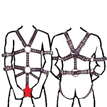 Amazon Com Male Full Body Harness With Crotch Cock Ring Restraint
