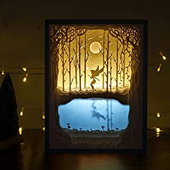 Papercut Light Boxes, Night Light Lamp of Creative Light Paintings - Fairy Butterfly