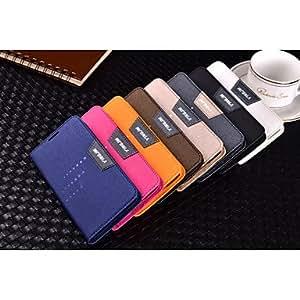 GX Playa de negocios de lujo marca de cuero sueño magnético cubierta del caso del soporte para Samsung i9600 / s5 , Blue