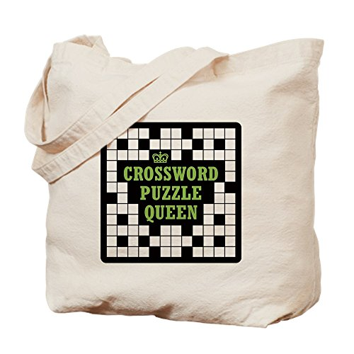 CafePress Crossword Queen Natural Canvas Tote Bag, Cloth Shopping Bag ()