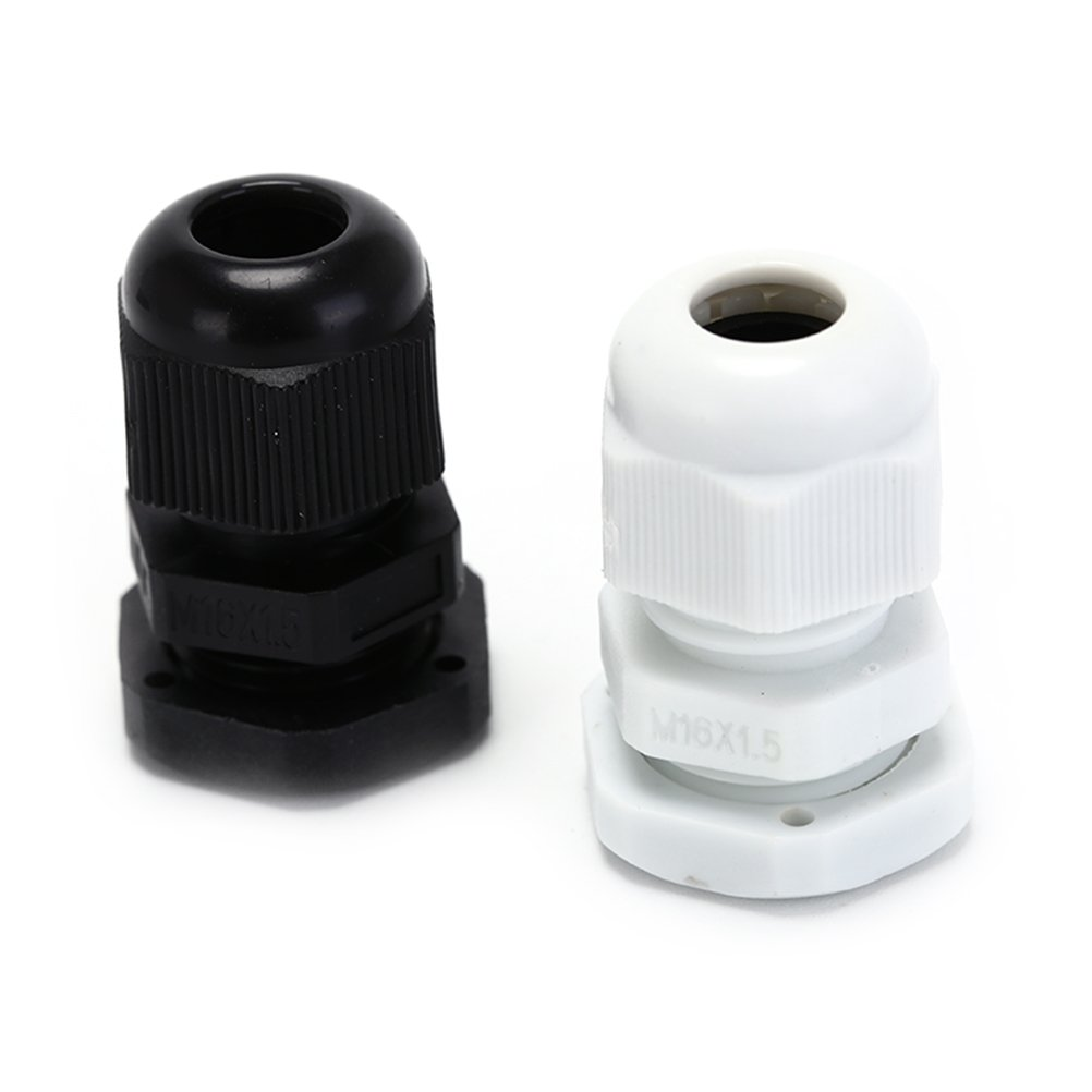 Cable Gland Suyep Nylon PA Waterproof Adjustable 3-50mm Cable Connectors Cable Gland Joints With Gaskets - M121.5, M14, M16, M18, M20, M22, M24, M25, M27, M30, M32-63, Assortment (M24-100PCS, Black)