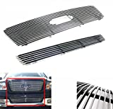 2005 ford f150 grille insert - ZMAUTOPARTS Ford F150 F150 Front Upper+Bumper Billet Grille Insert Combo Logo Cutout