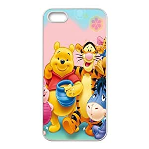Fashion Style New Winnie the Pooh Painted Pattern Hard Soft For Iphone 6Plus 5.5Inch Case Cover (Black/white)