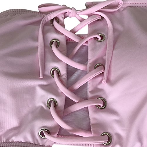 Xinvision Nouvelles Femmes Dame Filles Maillot De Bain Bikini Sexy Maillot De Bain Natation Costume Maillot De Bain Rose