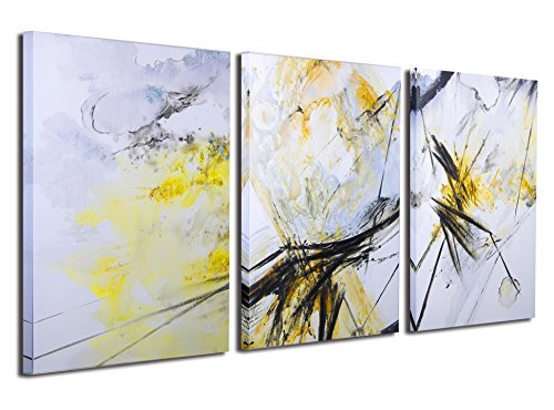 Gardenia Art - Abstract Canvas Wall Art 100% Hand Painted Oil Paintings on Canvas, Modern Artworks Wall Art for Room Decoration, 3 Pcs/Set, 16x24 inch per piece, Unframed