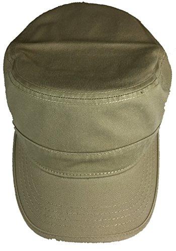 Patrol Cap Khaki (FLAT TOP PATROL STYLE HAT - TAN / KHAKI - Veteran Owned Business)