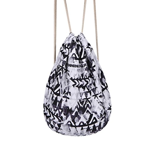 Price comparison product image Kanzd Fashion Unisex Cartoon Drawstring Bag Travel Backpack Bundle School Pocket (F)