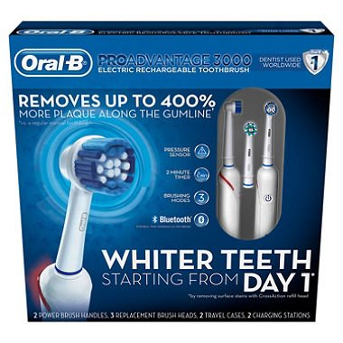 Oral-B PROAdvantage 3000 Electric Rechargeable Toothbrush (2 pk.) ES by europe Standard