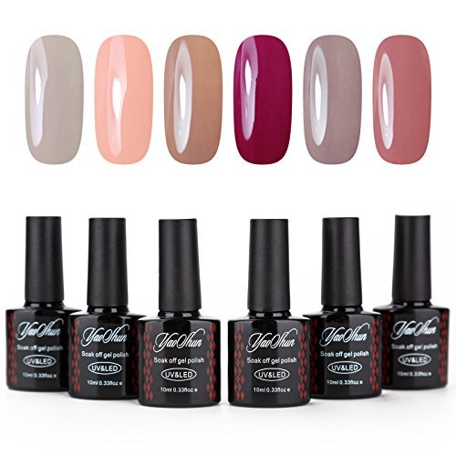 Y&S Gel Nail Polish Kit 6 Warm Colors - UV LED Gel Nail Poli