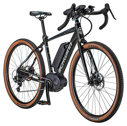 Schwinn Vantage Rxe Gravel Adventure Electric Bike with Bosch Performance Line Middrive 350 Watt Motor and Mechanical Disc Brakes, 650b/27.5-Inch Wheels, 57cm/Large Frame, Matte Black/Blue