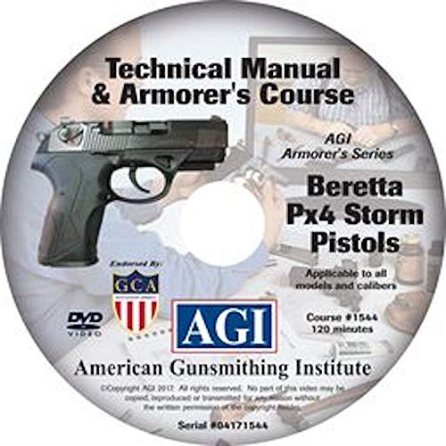 American Gunsmithing Institute Armorer's Course Video on DVD for Beretta PX4 Storm Pistol - Technical Instructions for Disassembly, Cleaning, Reassembly and More from American Gunsmithing Institute