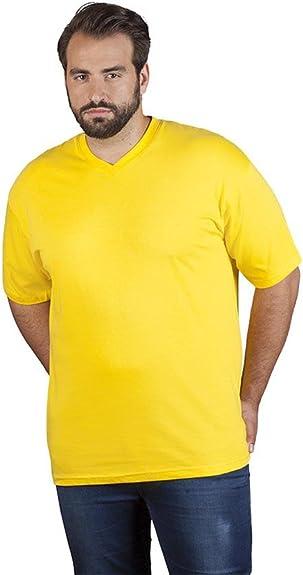 Promodoro Premium V de Cuello de Camiseta de 100% algodón Peinado, 180 g/m, Color Amarillo, Talla 4XL: Amazon.es: Zapatos y complementos