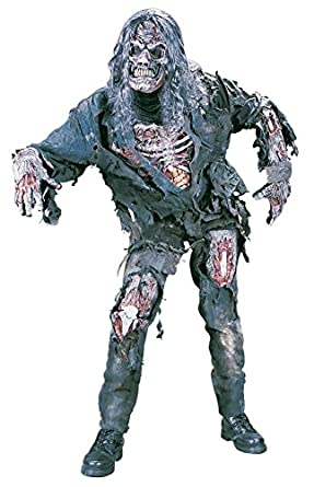 Fun World Men's Complete 3D Zombie Costume Grey One Size FunWorld 1111