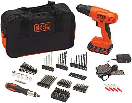 BLACK DECKER 20V MAX Drill Drill Bit Set, 100 Piece BDC120VA100