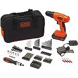BLACK+DECKER BDC120VA100 Cordless Project Kit with 100 Accessories