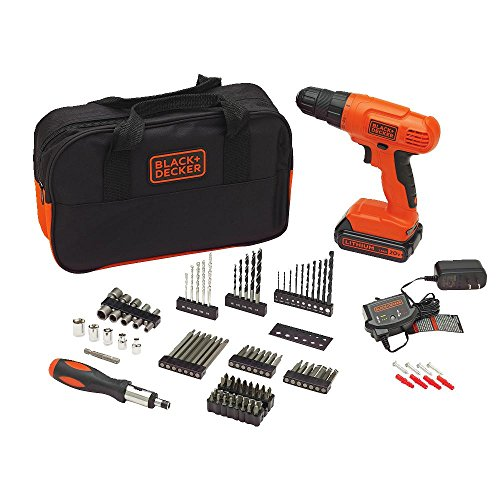 Power Drill Accessory Set - BLACK+DECKER BDC120VA100 Cordless Project Kit with 100 Accessories