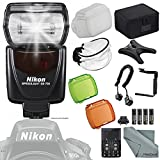 Nikon SB-700 AF Speedlight Flash for Nikon Digital SLR Cameras w/ Essential Accessories + FiberTique Microfiber Cleaning Cloth