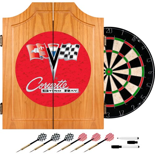 (Chevrolet Corvette Wood Dart Cabinet Set)