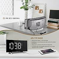 Mpow Radio Despertador Digital, Radio Reloj Despertador Proyector ...
