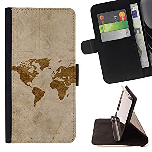 For Motorola Moto X 3rd / Moto X Style Map Art Watercolor Eart Continents America Style PU Leather Case Wallet Flip Stand Flap Closure Cover