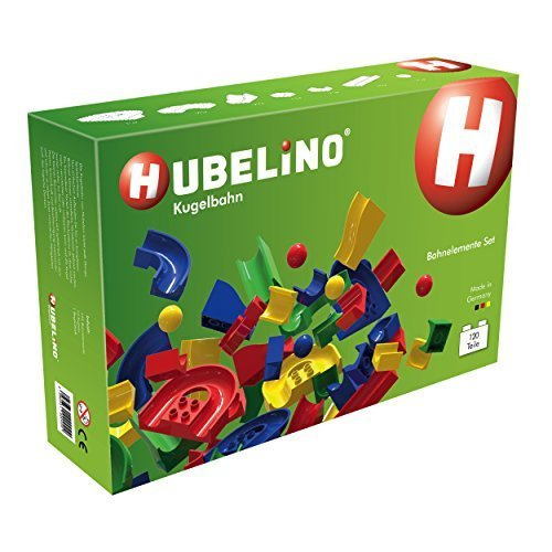 Hubelino - Marble Run - Large Set - 120pcs - Age 3+ (100% compatible with Duplo) by Hubelino GmbH [並行輸入品]   B017E6P9OY
