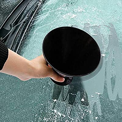 FEBSNOW Round Windshield Ice Scrapers - Magic Cone-Shaped Car Windshield Ice Scrapers, Car Snow Removal Shovel(2 Pack): Sports & Outdoors