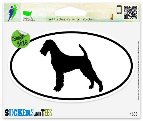 Irish Terrier Dog Breed Shape Oval Car Sticker Indoor Outdoor 5