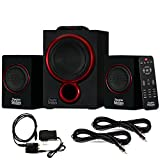 Theater Solutions TS212 Powered 2.1 Bluetooth Speaker System with Digital Input and 2 Extension Cables
