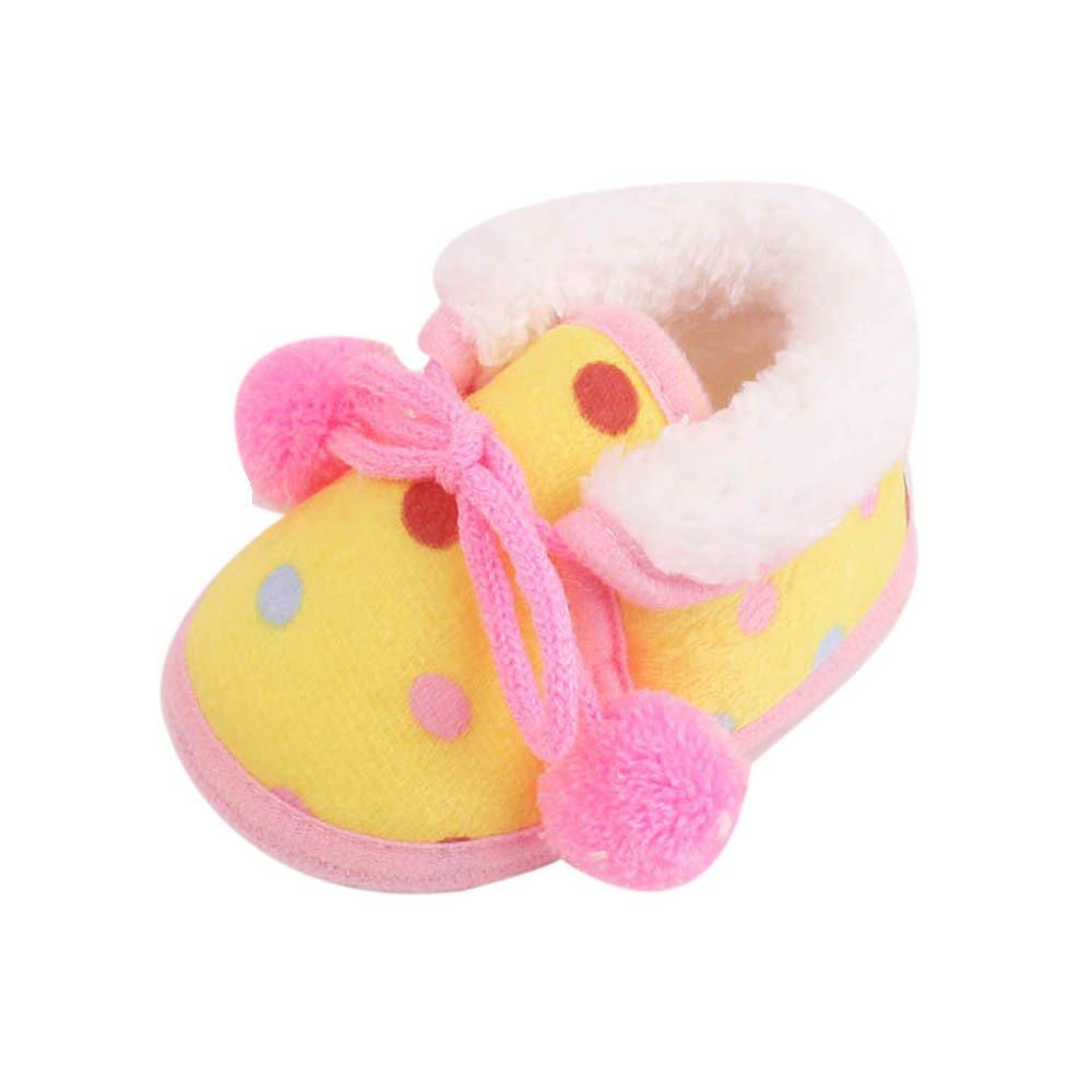 YanHoo Zapatos para niños Zapatos de Invierno para bebés Zapatos Antideslizantes con Fondo Suave y Zapatos de Terciopelo para niños pequeños Botas de Nieve ...