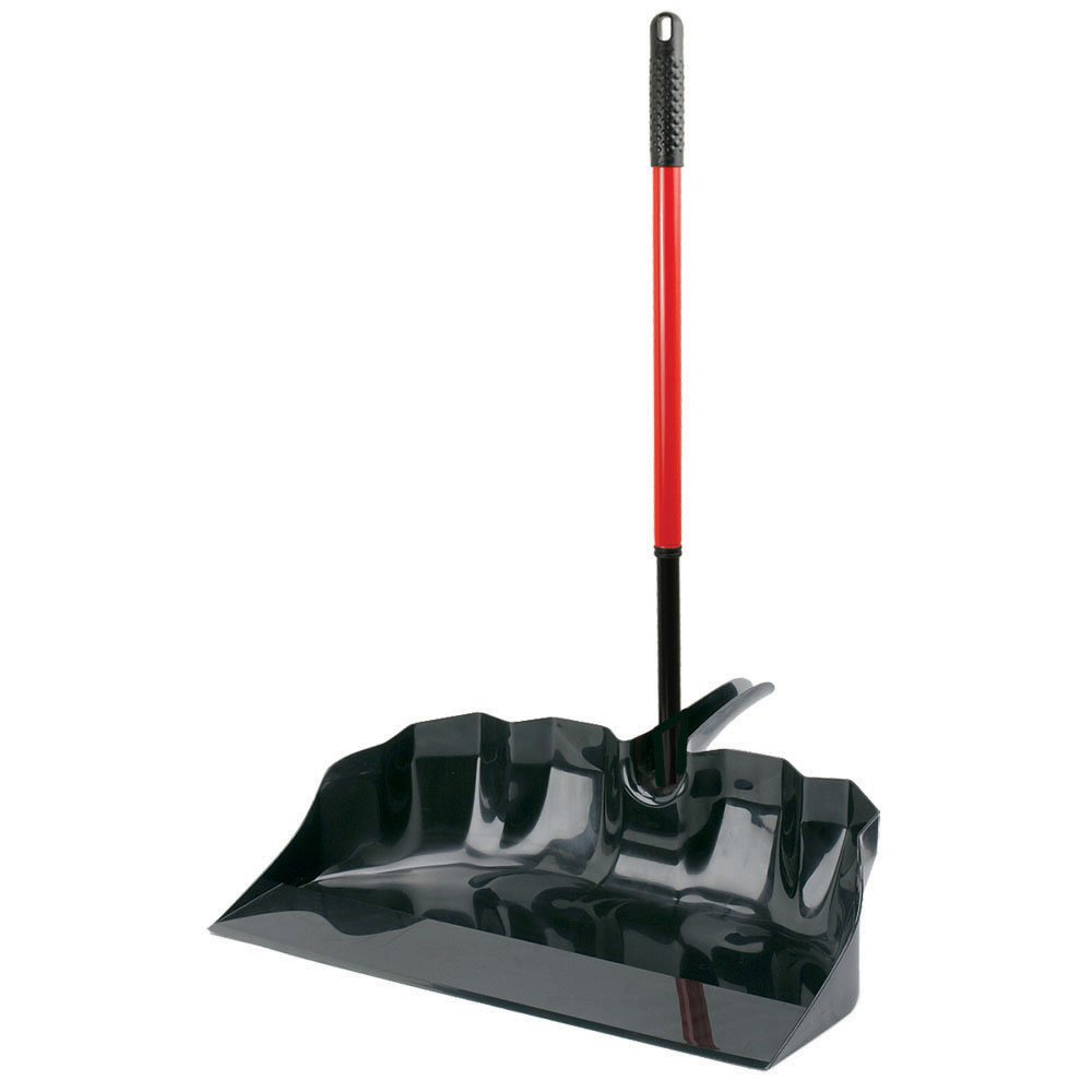 Libman Commercial 929 Outdoor/Shop Scoop, Steel Handle, 22'' Wide, Red and Black (Pack of 3)