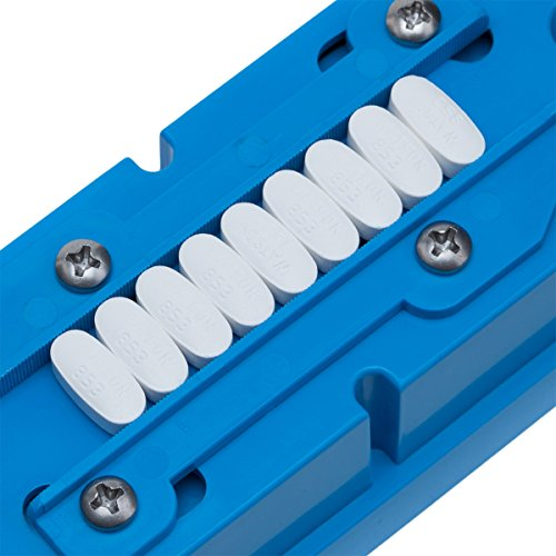 Multiple Pill Splitter. Original Patented Design, with Accurate Pill Alignment, Sturdy Cutting Blade and Blade Guard, for Splitting and Quartering Round or Oblong Pills.US Patent No. 9,827,165. by Pillcut (Image #2)
