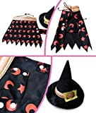 PetBoBo Pet Dog Cat Clothes With Witch Hat Halloween Costume Witch Cape Hat For Dog Puppy Chihuahua Cat (M(Fulfillment by Amazon))