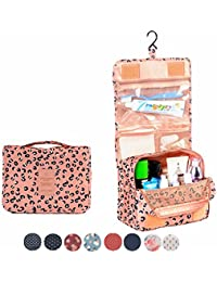 Hanging Toiletry Bag-Travel Organizer Cosmetic Make up Bag case for Women Men Kit with Hanging Hook for vacation