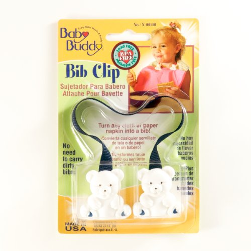 Baby Buddy Bib Clip Navy (Pack Of 18)