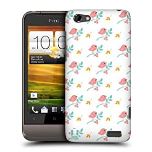 Head Case Designs White Bird Patterns Protective Snap-on Hard Back Case Cover for HTC One V by ruishername