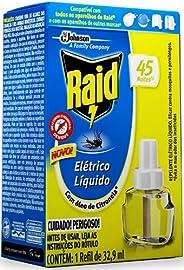 Raid Repelente Eletrico Liquido Refil 45 Noites 32,9ml