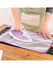 قماشة كي مضادة للانزلاق ومضادة للحروق وعازلة للحرارة 60 × 40 سم - بيضاء