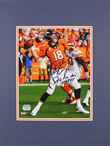 Peyton Manning 8x10 Matted Photo - Peyton Manning Autographed Photo - 8x10 Matted Fanatics COA #0984661 - Fanatics Authentic Certified - Autographed NFL Photos
