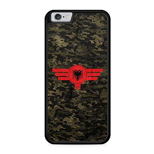 Albanien Albania Camouflage - Hülle für iPhone 6 & 6s SILIKON Handyhülle Case Cover Schutzhülle - Albania Shqiperia Bedruckte Flagge Flag Military Militär