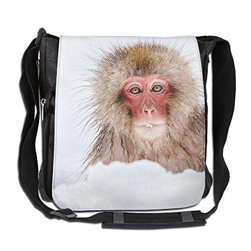 Cold Monkey Men Wowen Outdoor Messenger Bag School Bag Crossbody Shoulder Bag-Black