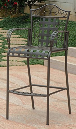 International Caravan Iron Patio Bar Stool - Set of 2