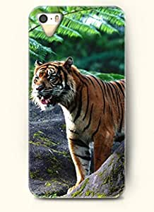 OOFIT Phone Case Design with Tiger Watching for Apple iPhone 5 5s