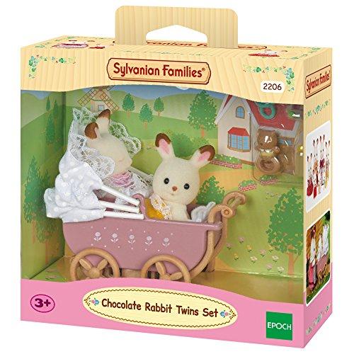 Sylvanian Families 2206 - Schokoladenhasen Baby Zwillinge mit Kinderwagen