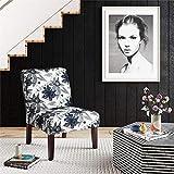 Dorel Living DA164-FL Teagan Armless Accent, Flower Pattern Chairs,