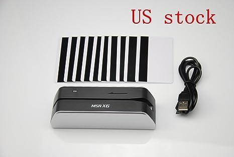 MSR X6 1//3 Size of Msr206 Msr605 Smallest Usb-powered Magnetic Reader Writer Encoder Swipe by Card Device