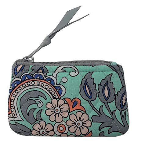 Vera Bradley Zip Close Pocket Coin Purse (Fan Flowers)