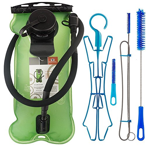 - WACOOL 3L 3Liter 100oz BPA Free EVA Hydration Pack Bladder, Leakproof Water Reservoir (Green with Cleaning Kit)