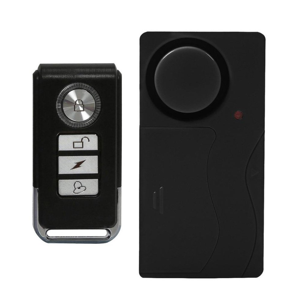 Lumiwell Kabelloser Vibrationsalarm mit Fernbedienung Diebstahlschutz Alarm Fahrrad Motorrad Auto Auto Alarm 110db laut Tü r- und Fensteralarm Shenzhen Unilumentled Co. Ltd