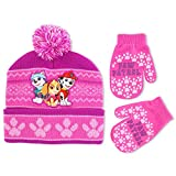 Nickelodeon Little Girls' Paw Patrol Pals Cuff Hat and Mitten Set