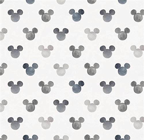 Nursing Pillow Cover Grey Watercolor Mickey Mouse